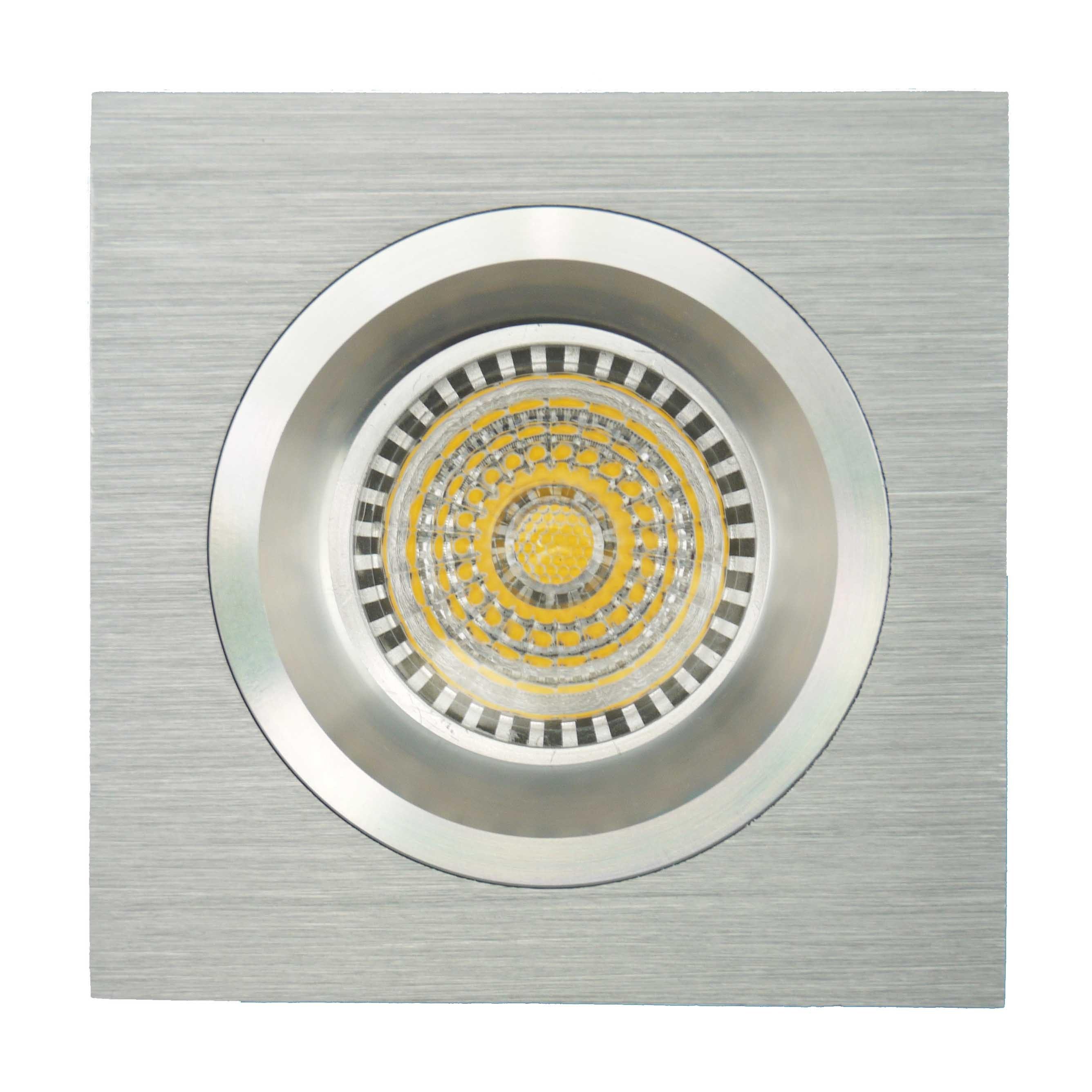 Lathe Aluminum GU10 MR16 Square Fixed Recessed LED Spotlight (LT2109)
