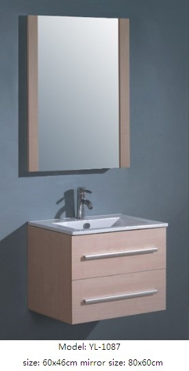 Bathroom Cabinet with Mirror MDF Furniture