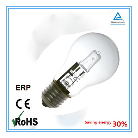 China Factory E27 Clear A55 Eco Halogen Bulb 42W 2000hours