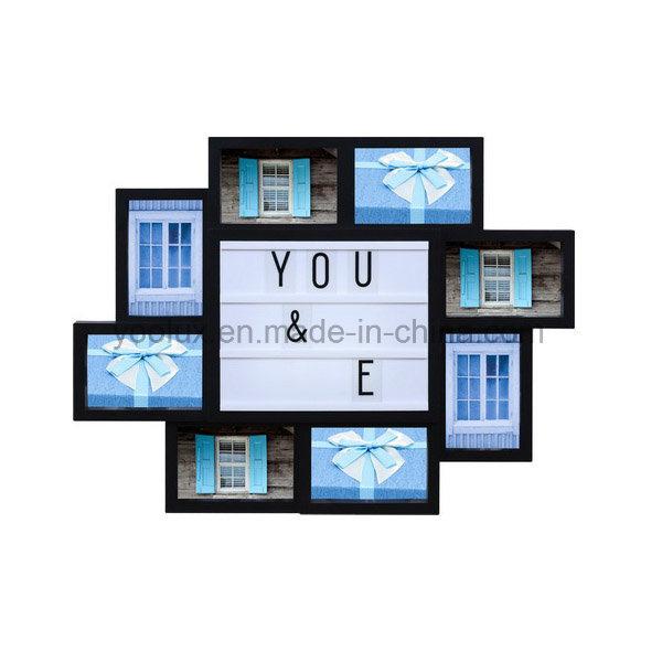 Plastic Gift Home Decoration Collage LED Light Photo Frame