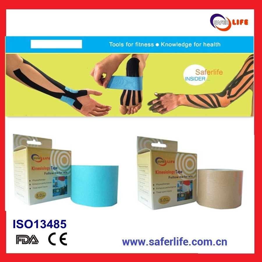2014 Wholesale Sport Therapy Muscle Elastic Multicolor 5m X 5cm Kinesiology Tape 5m X 5cm Kinesio Tape, 5m X 5cm Rock Kt Tape