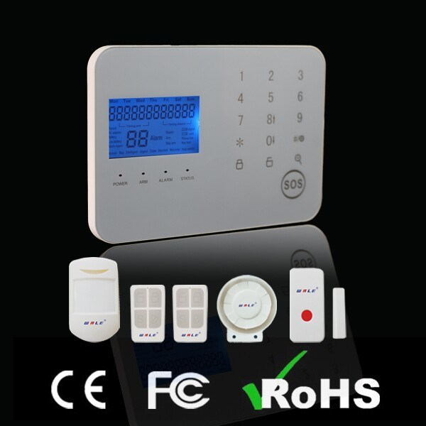 Wireless Touch Screen GSM+PSTN Home Security Alarm System Panel Kit