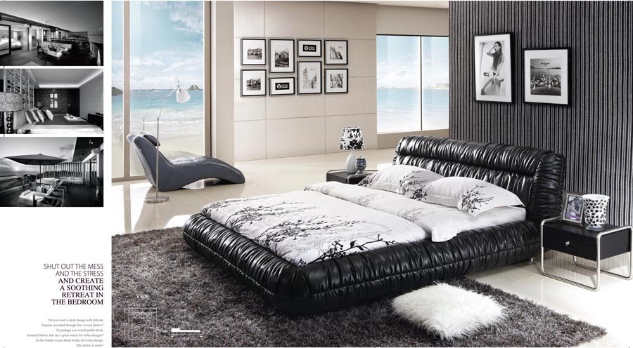 China wood double bed designs v806 china round bed on for Round double bed design