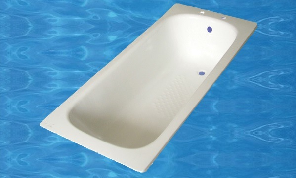 170X70X39cm Simple White Steel Enamel Bathtub