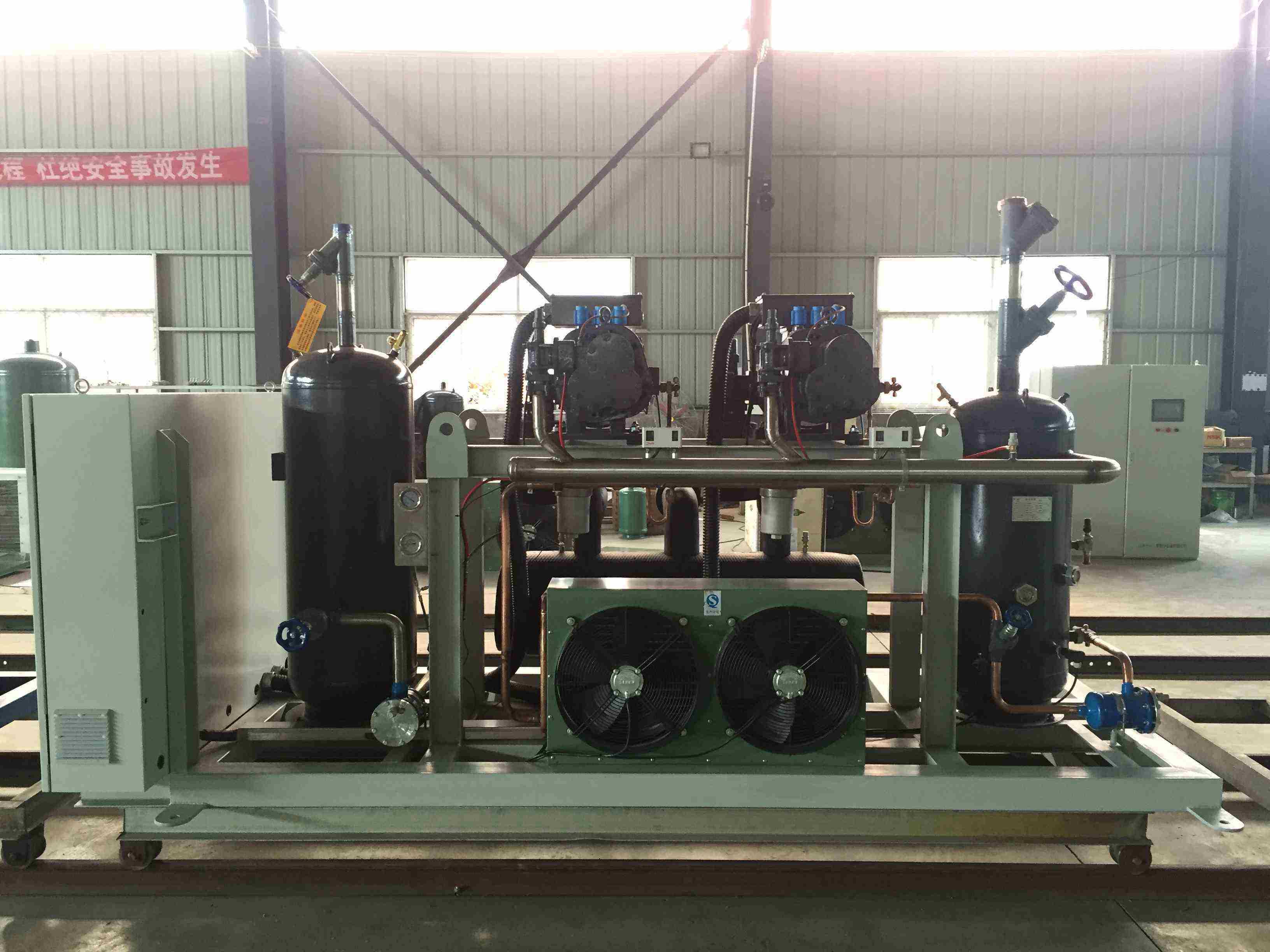 Refcomp Low Temperature Parallel Screw Unit Refrigeration Compressor