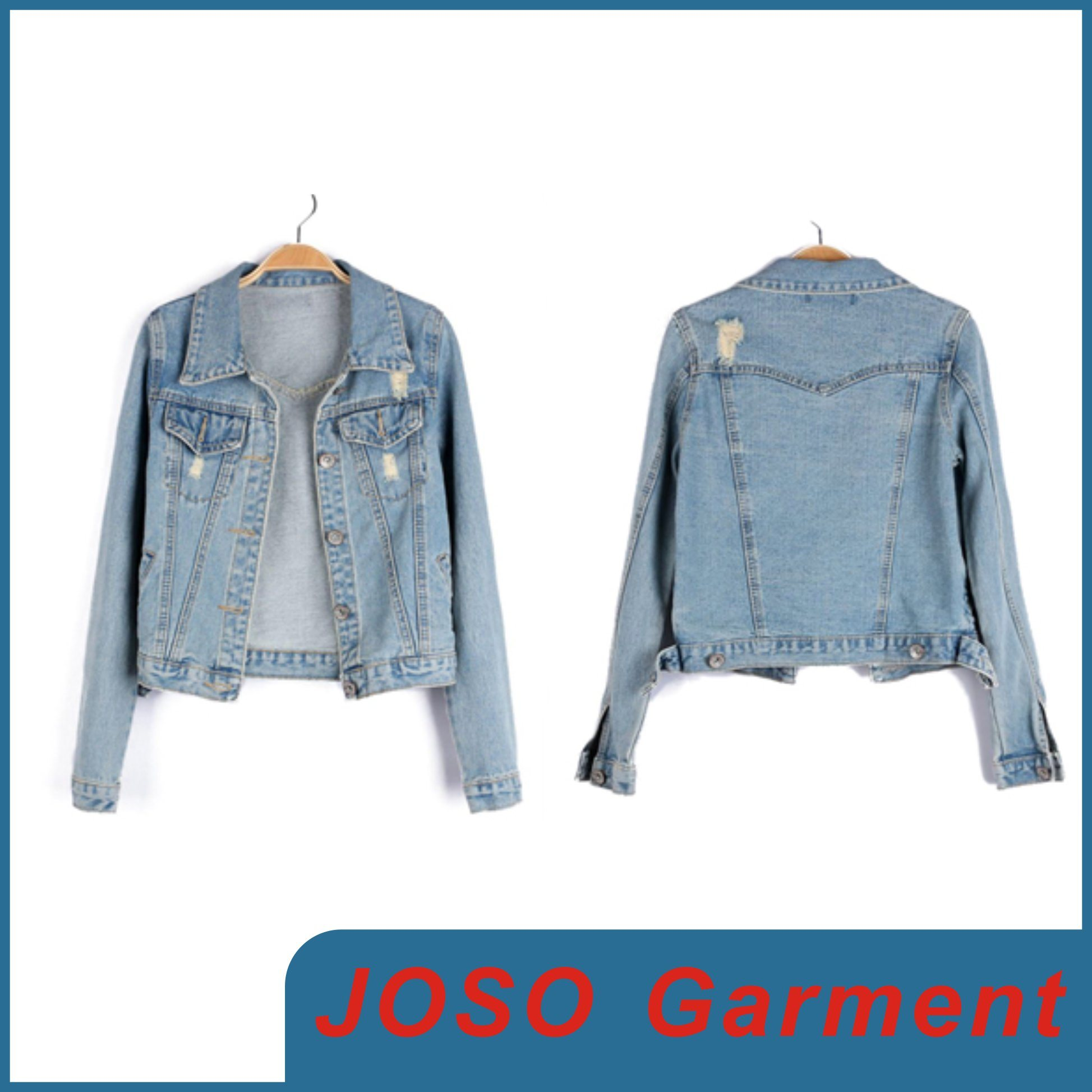 Women Long Sleeve Denim Jacket (JC4011)