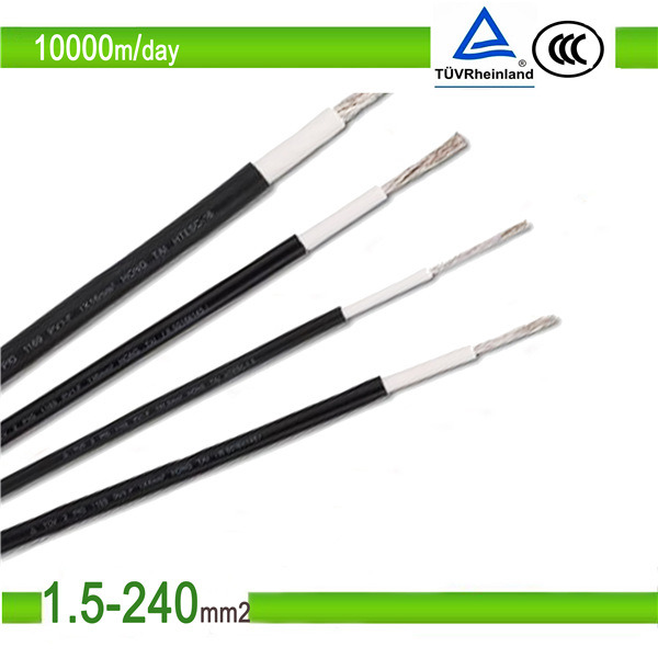 Photovoltaic TUV UL Tinned Copper PV1f PV Solar Cable 6mm2