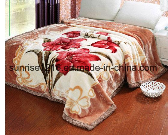 High Quality Mink Blanket Sr-B170214-3 Printed Mink Blanket Solid Mink Blanket