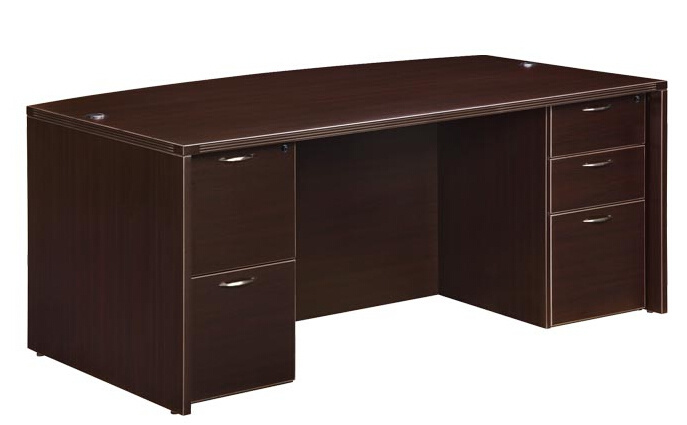 Modern High Quality MFC Board Office Furniture Bow Front Desk Executive Table Executive Desk