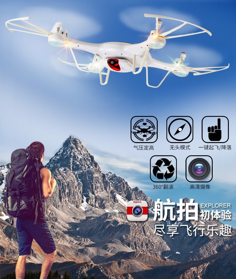 6 Axis of Gyroscope RC Helicopter with 2million Camera
