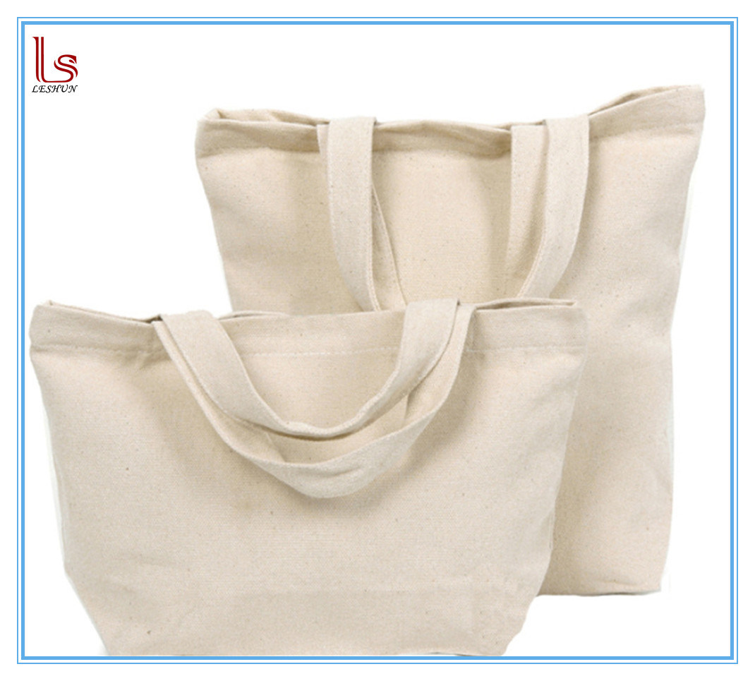 Wholesale Gift Blank Plain Canvas Bulk Customized Tote Cosmetic Bag