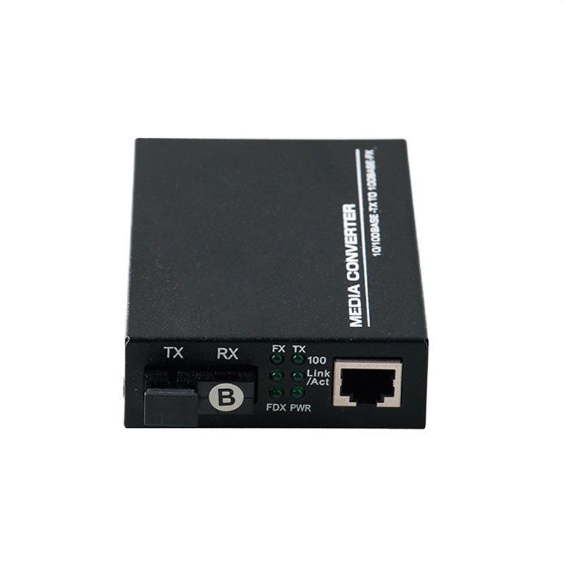 10/100m Optical Fiber Media Converter Single Fiber Bi-Directional Sc 20km (MC1001SC)