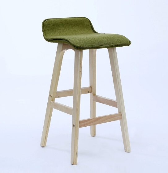 Simple Style Solid Wood Bar Chair Wooden Bar Stool (M-X1086)