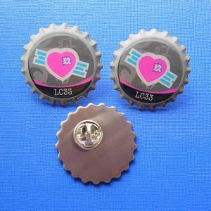 Custom Made Pin Enamel Stamped Logo Badges (GZHY-YS-018)