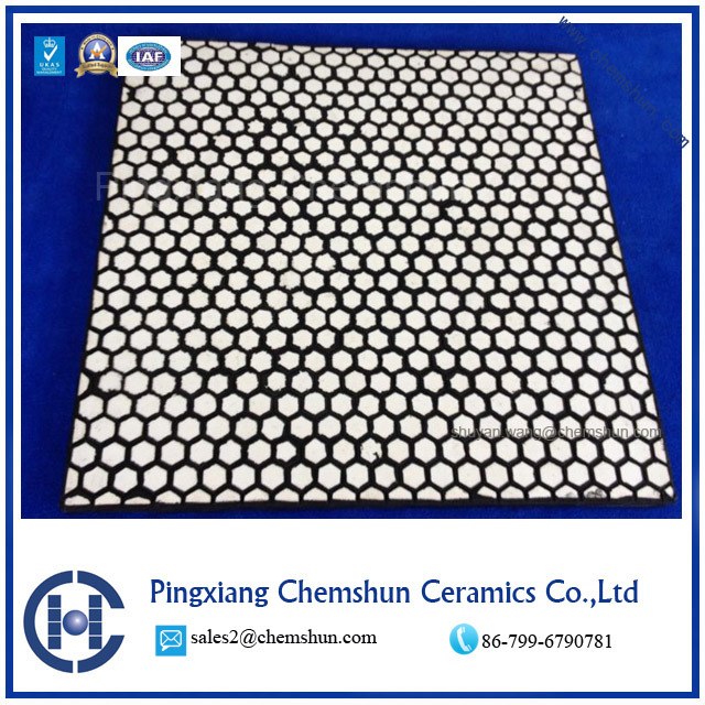 Abrasion Resistant Rubber Ceramic Wear Panel for Chute Linings