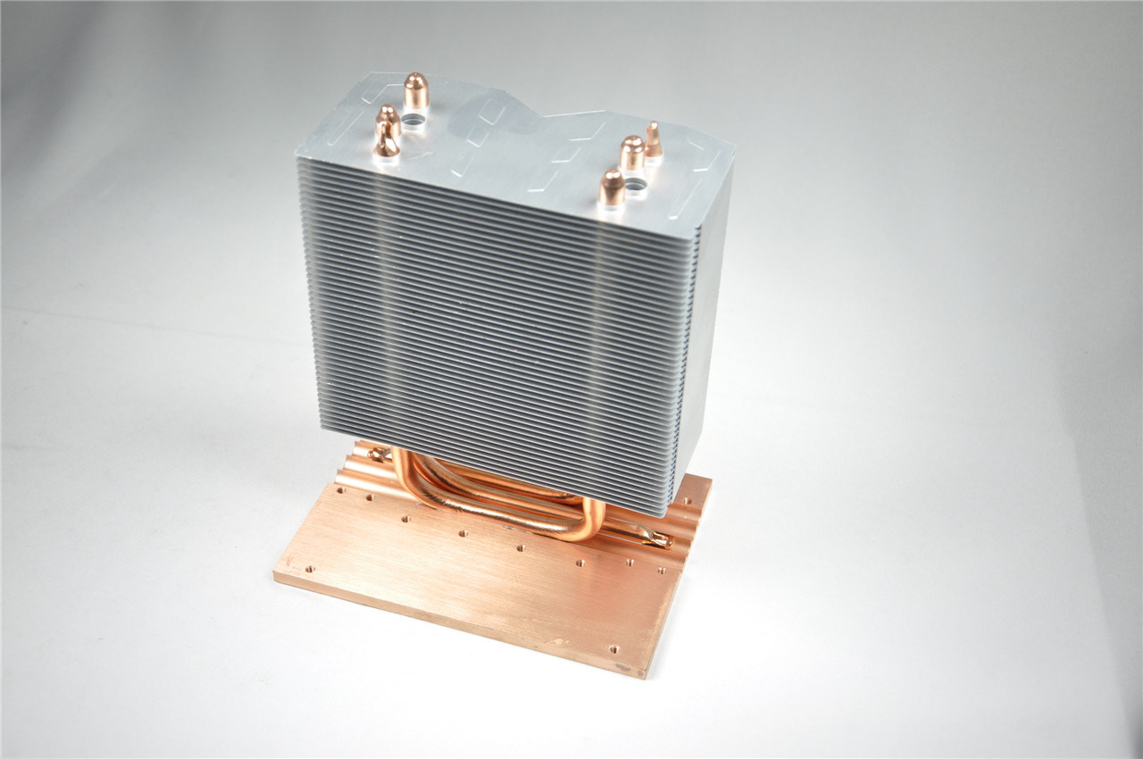 Aluminum Heat Pipe Heatsink with Copper Base