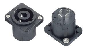4pin Female Speakon Audio Jacks/Sockets with Screw (SPE-013A1)