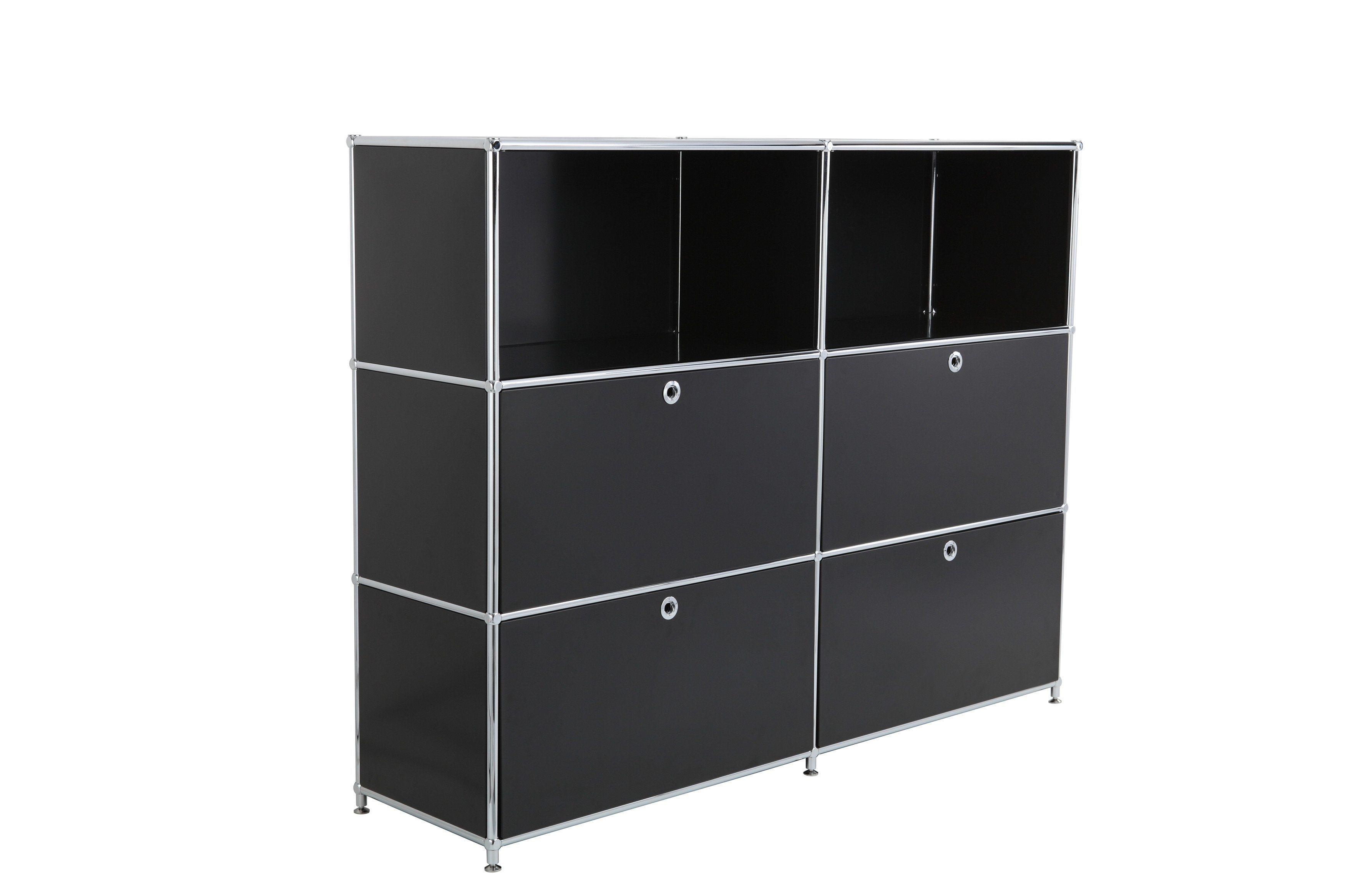 Sturdy 4 Door Steel Storage Modular DIY Office Transcube Modular Filing Cabinet