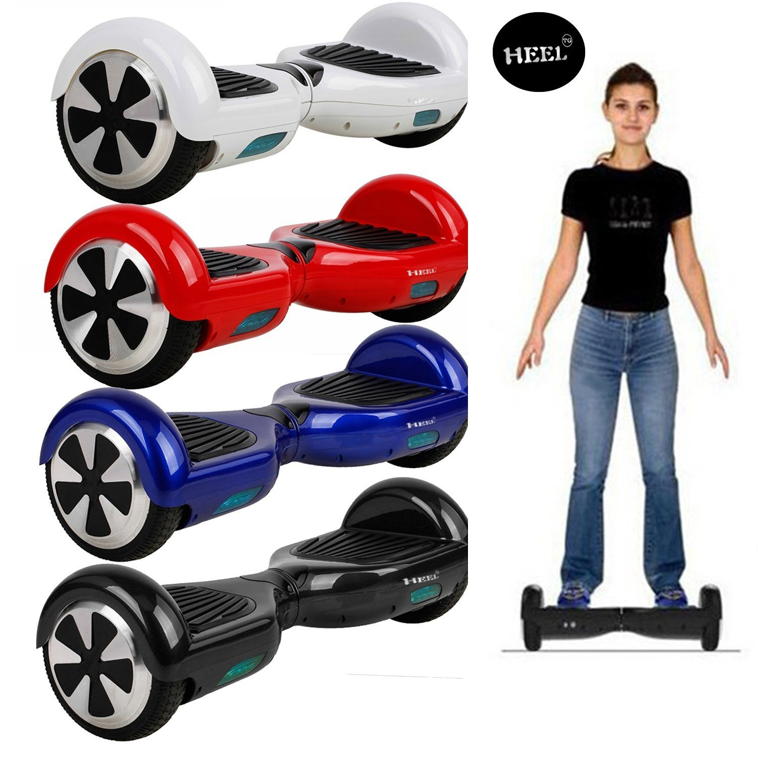 6.5 Inch Self Balancing Scooter LED Bluetooth