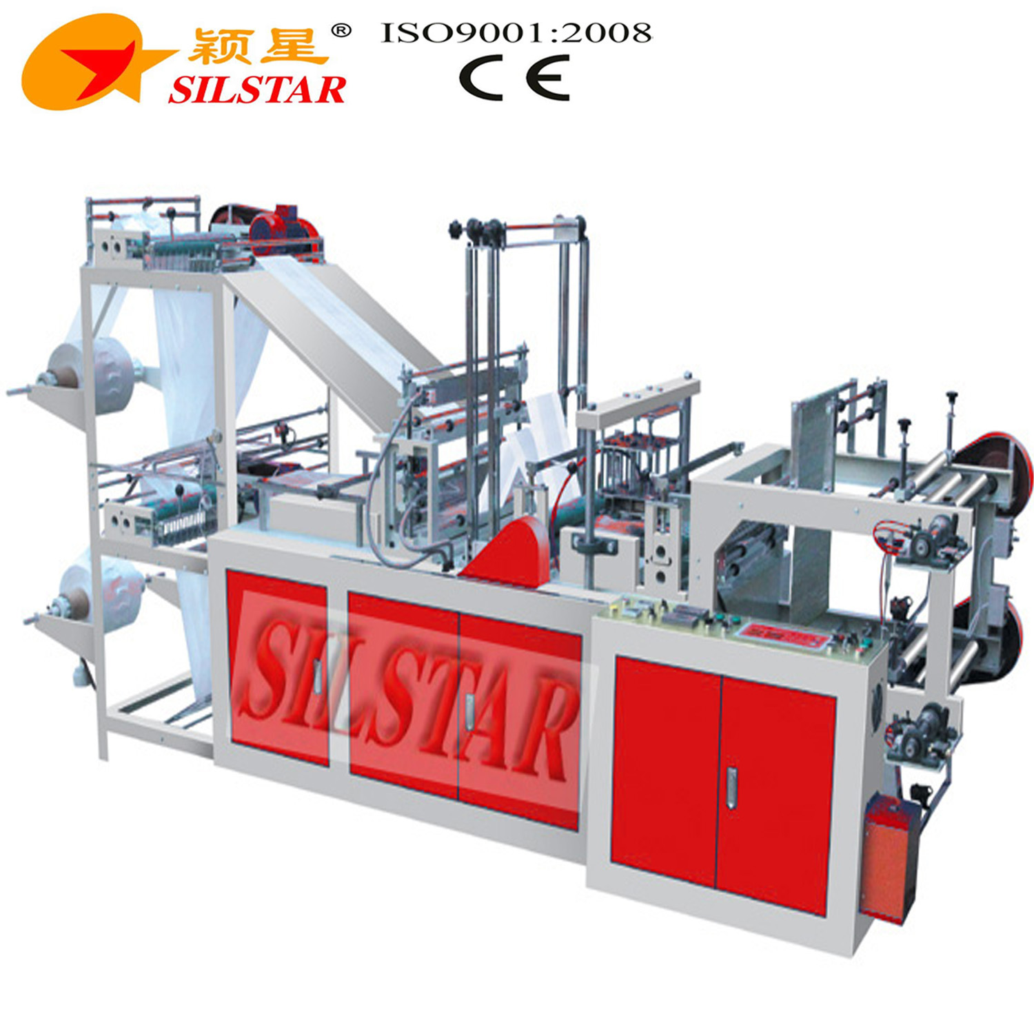 Double Lines on Roll T-Shirt & Flat Bag Making Machine