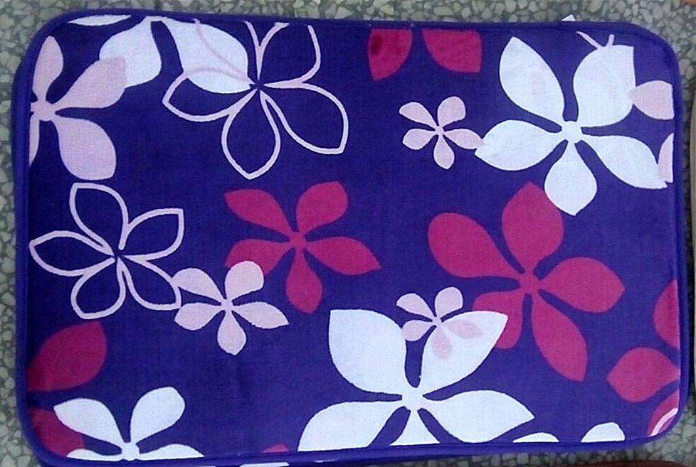 New Design Flannel Printing Floor Mat
