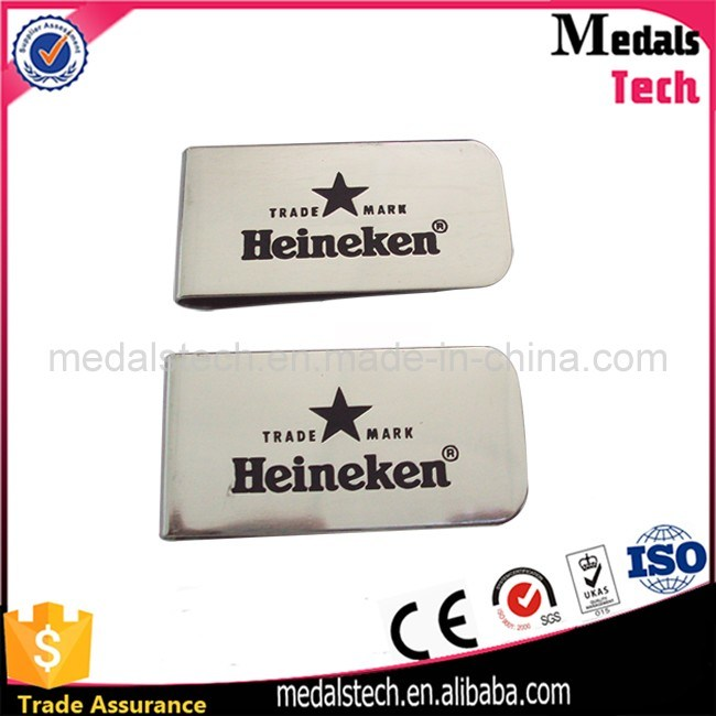 Promotional Custom Logo Cheap Stainless Steel Metal Money Clips