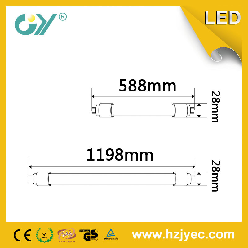 Glass Bulb 25W 6000k G13 T8 LED Tube