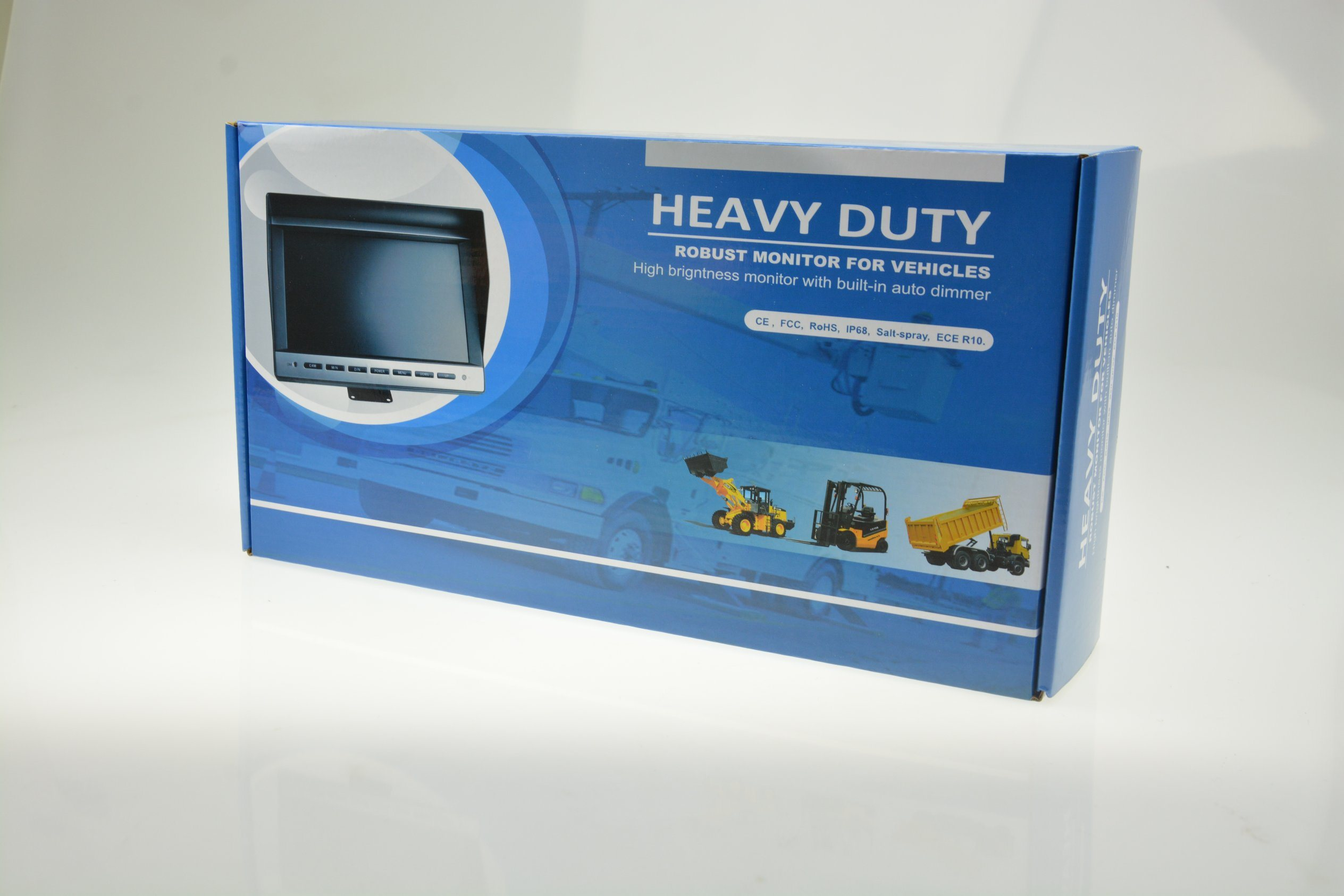 "Heavy Duty 7"" TFT LCD Monitor with Double DIN (BR-TM7001-DD)"