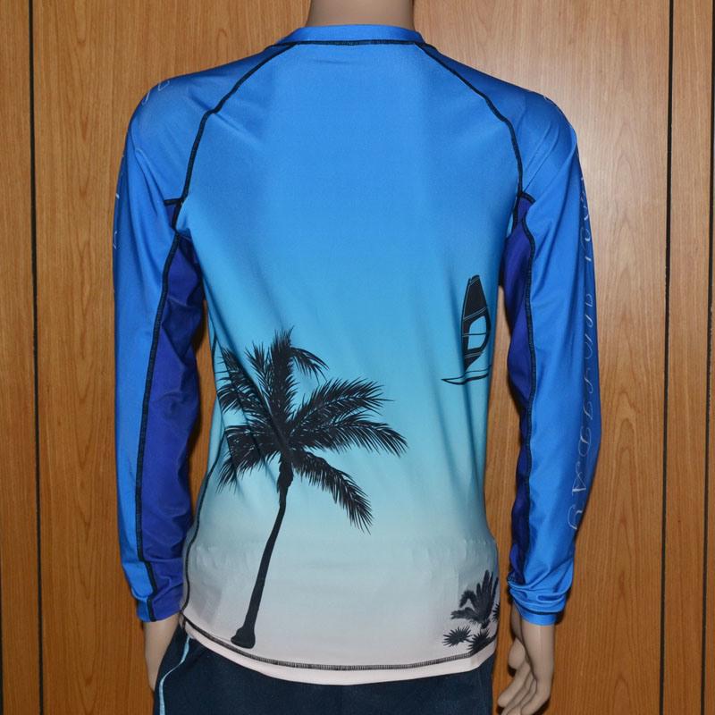 Beach Theme Rash Guard/Compression Shirt