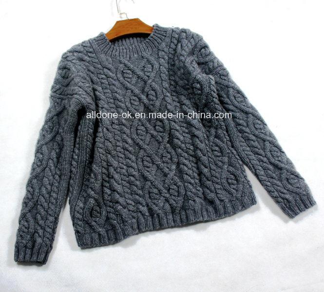 Custom High Quality Winter Wool Hand Knit Sweater Cardigan