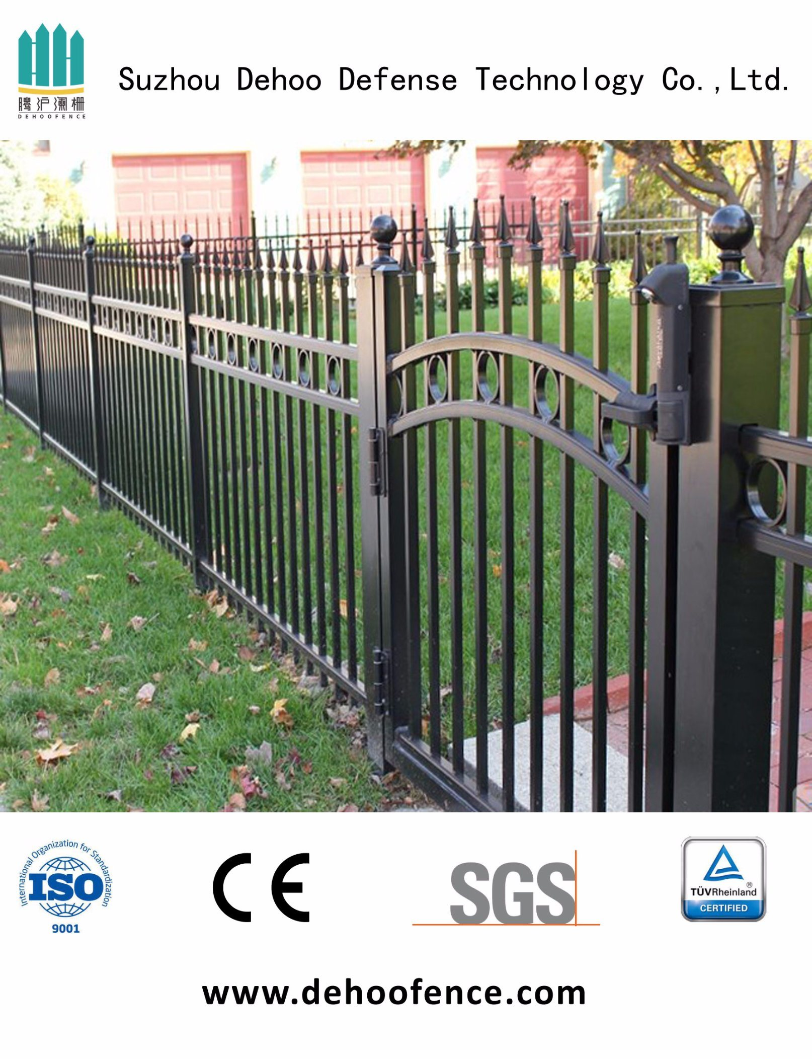 Security Ornamental Garden Fence with Gate