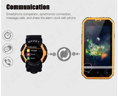 Multilingual! Smart Waterproof Watch No. 1 A10 Clock Sync Notifier Support Mic Bluetooth for Android Phone Smart Watch Gray Color
