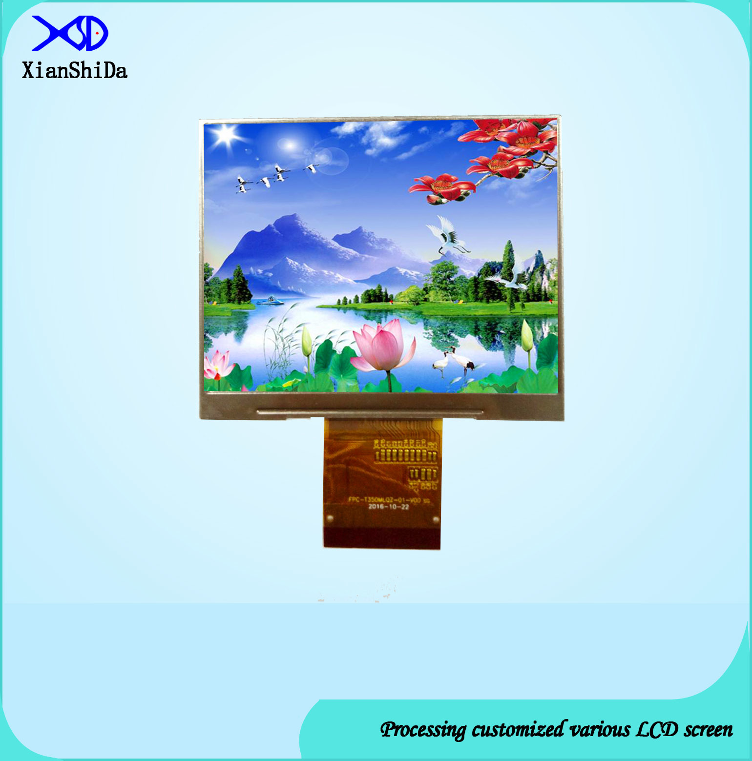 Full Viewing Angle 3.5 Inch TFT LCD Display Module with 40 Pins