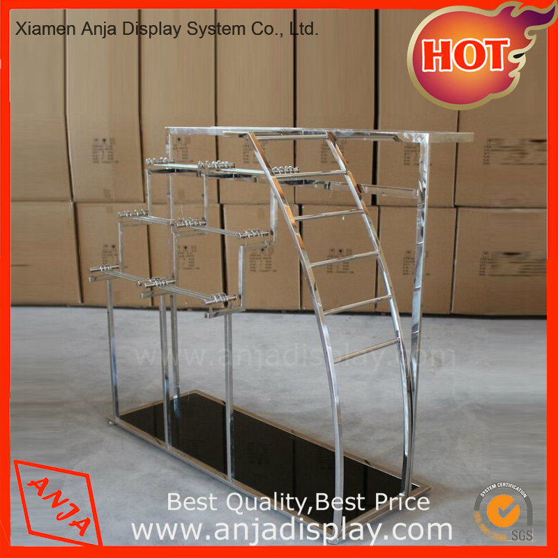 Stainless Steel Clothing Display Stand for Shop