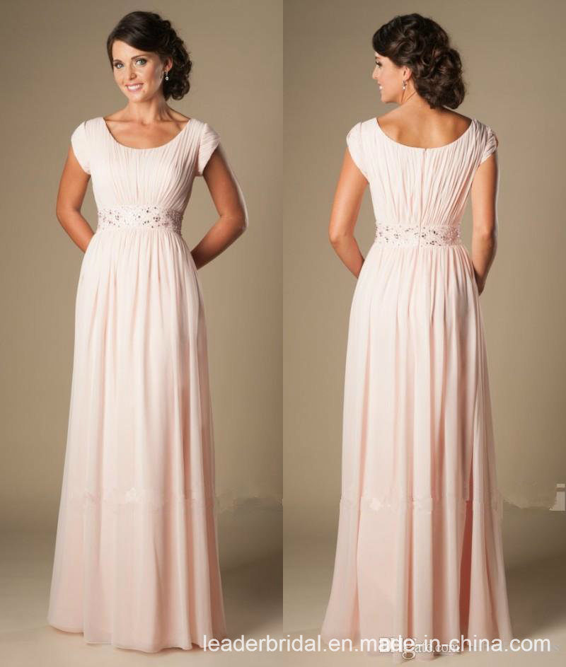 Short Sleeves Mother Dresses Pink Bridesmaid Evening Dresses M71013L