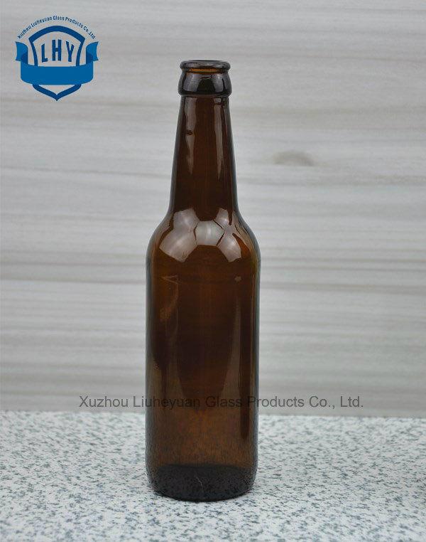 330ml Leadless Amber Glass Beer Bottle