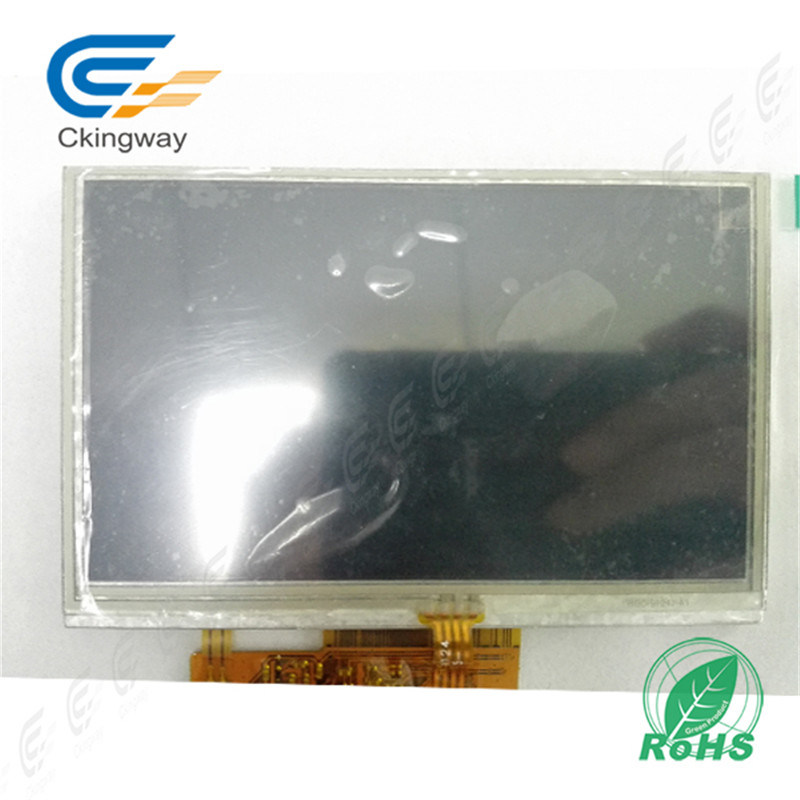 "4.3"" 600cr 40 Pin LCD Screen Display Module with Resistive Touch Screen"