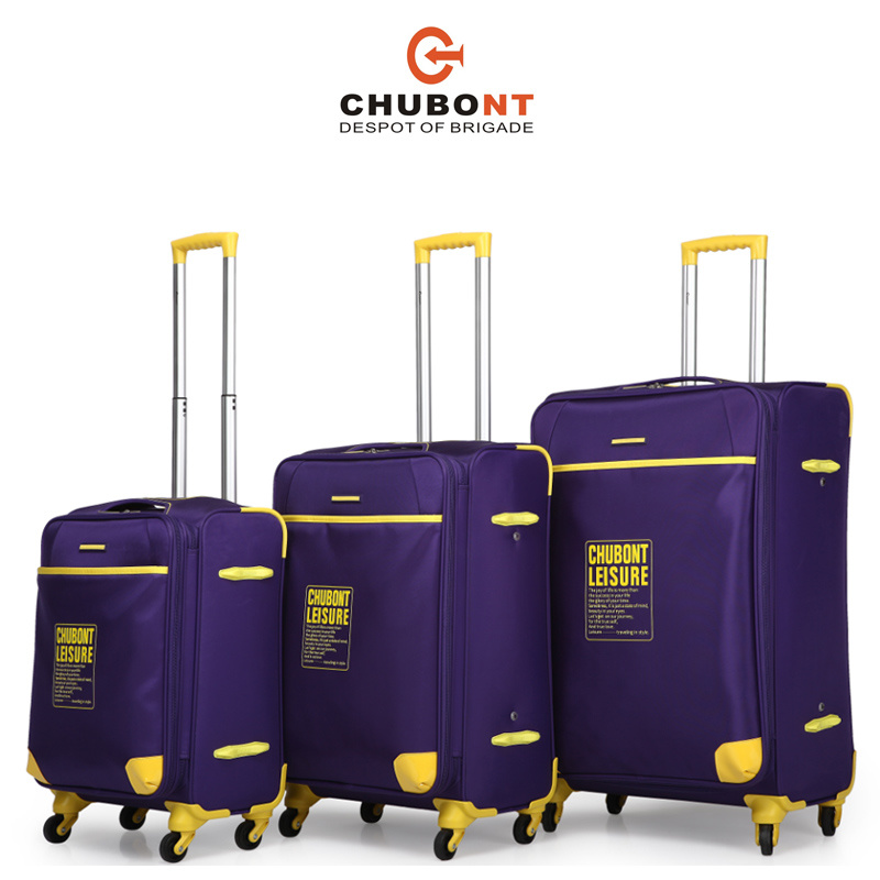 Chubont High Qualitty Four Wheels Fashion Travel Luggage Set with Paded Lock