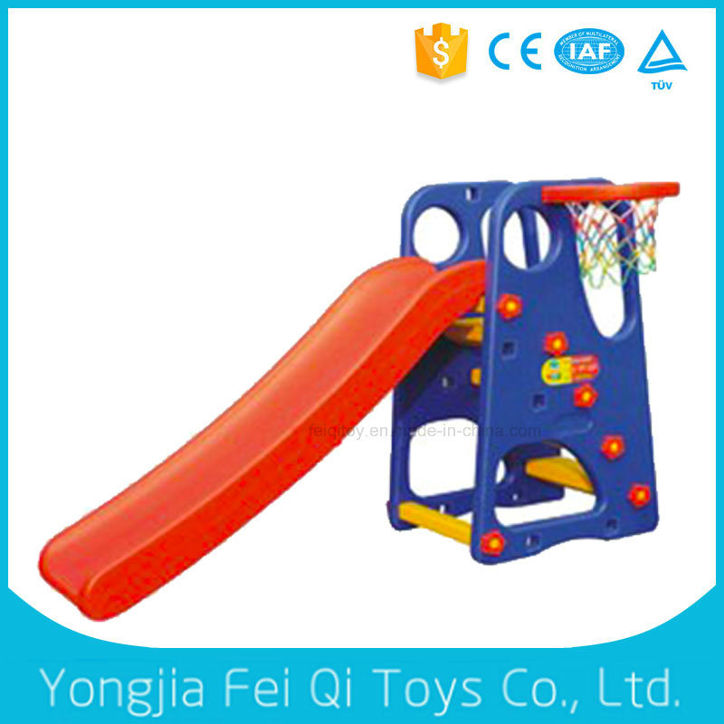 Children Long Plastic Slide Kid Slide with Plastic Basketball Stand with Good Price