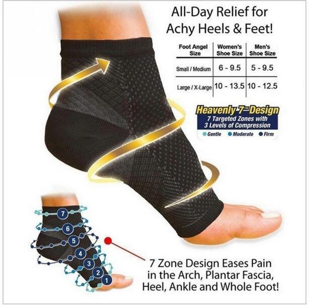 Plantar Fasciitis Socks Foot Care Compression Sock Sleeve with Arch & Ankle Support
