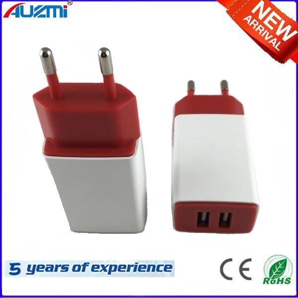 Dual USB Travel Charger with Universal Plug