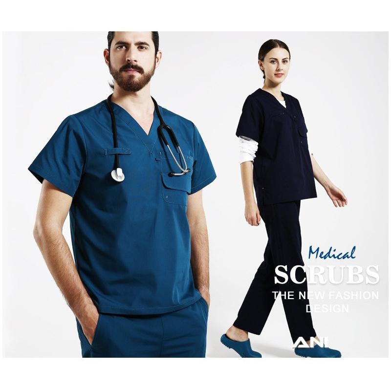 Medical Surgery Wear Medical Uniform High Protection Scrub of 100%Cotton