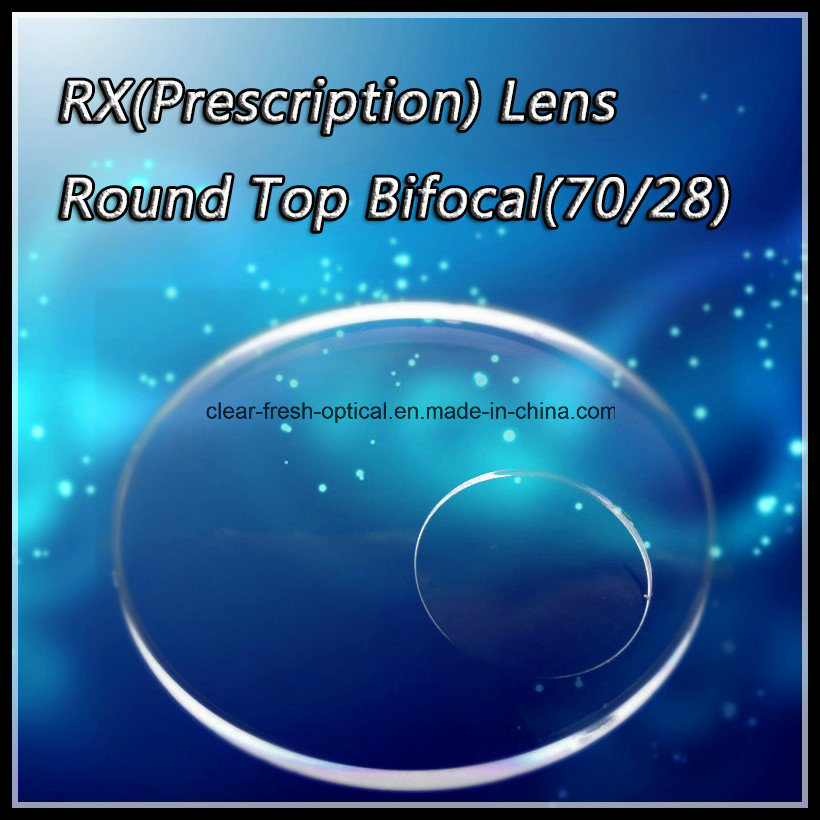 Rx (Prescription) Lens Round Top Bifocal (70/28)