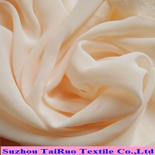 Solid Dyed Woven Polyester Chiffon for Dress Fabric