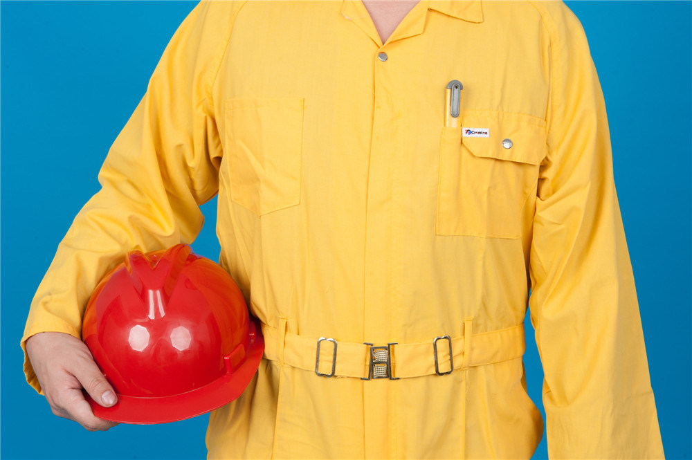 65% Polyester 35%Cotton Long Sleeve Safety High Quality Cheap Workwear Coverall (BLY1026)