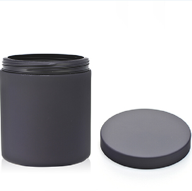20 Oz /650ml Balck Matt Soft Touch Plastic Supplement Container