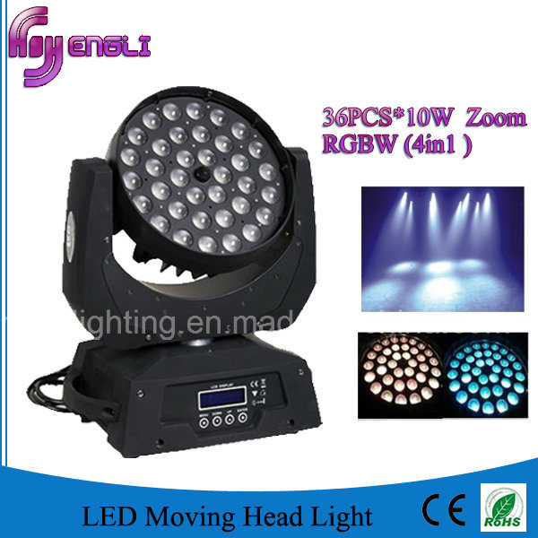 36*10W RGBW 4in1 LED Washing Moving Head for Stage (HL-005YS)