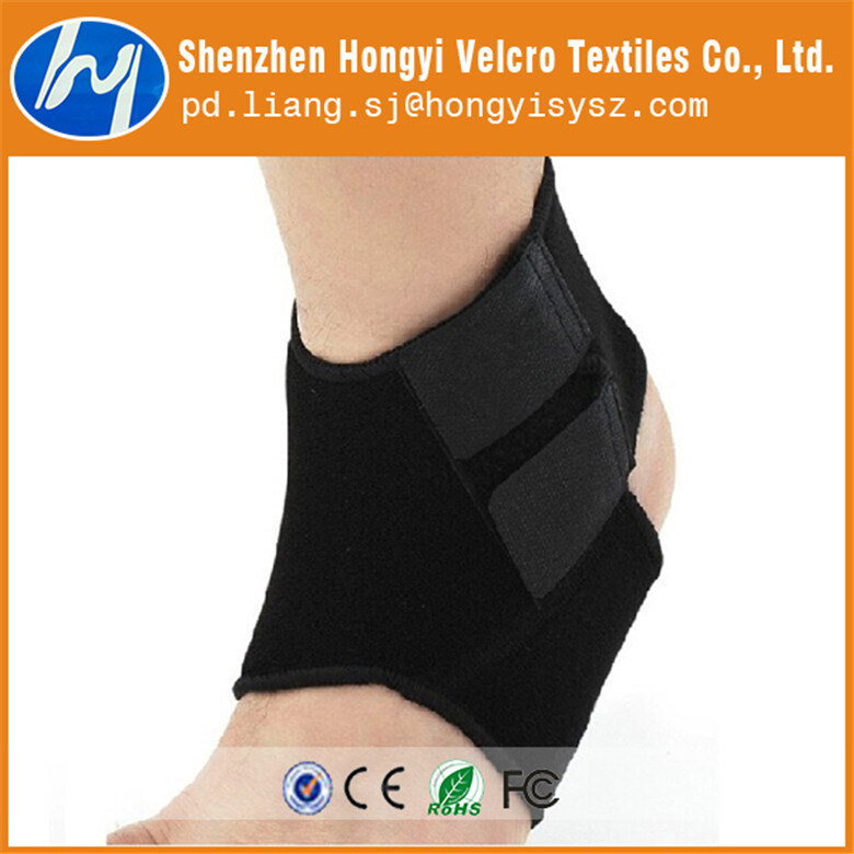 Nylon Durable Adjustable Black Elastic Loop Velcro Tape for Foot