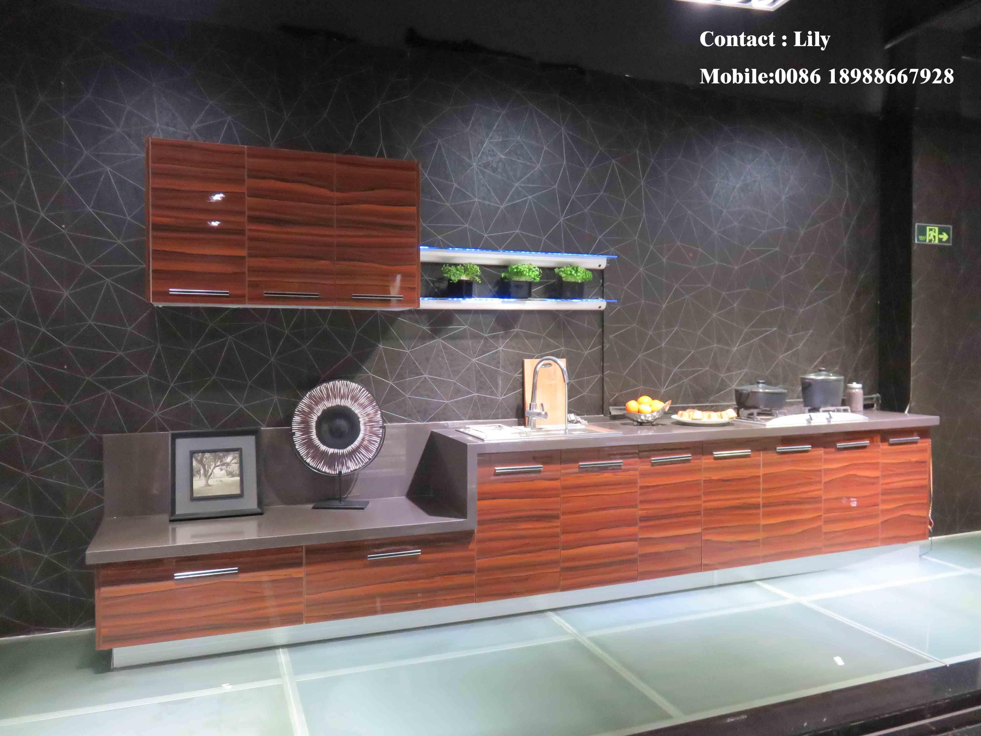 Zhuv Acrylic Door MDF 18mm Kitchen Cabinet (ZH-6046)