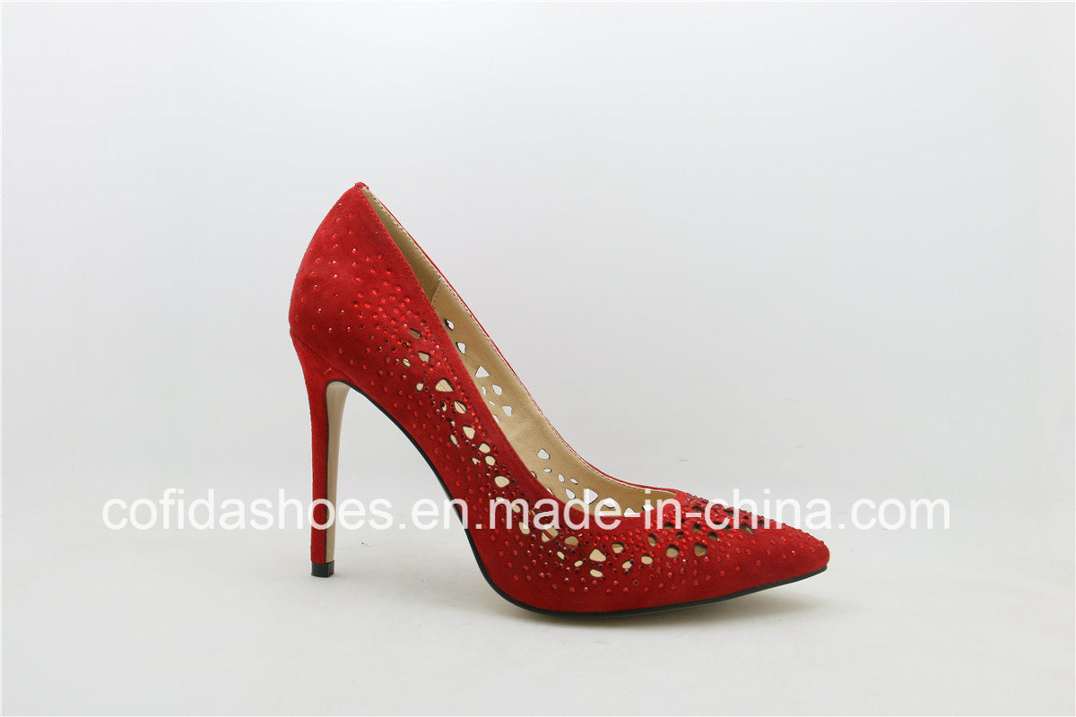 Hot Sale Exquisite Design Lady Leather Bridal Shoes